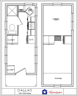 Tiny house floor plans american tiny house for Dallas house plans