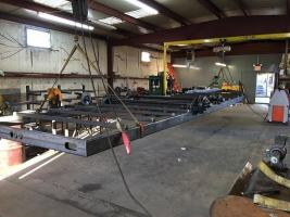 American Tiny House Trailer Being Built