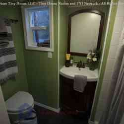 BATHROOM - Everett - American Tiny House - Tiny House Nation