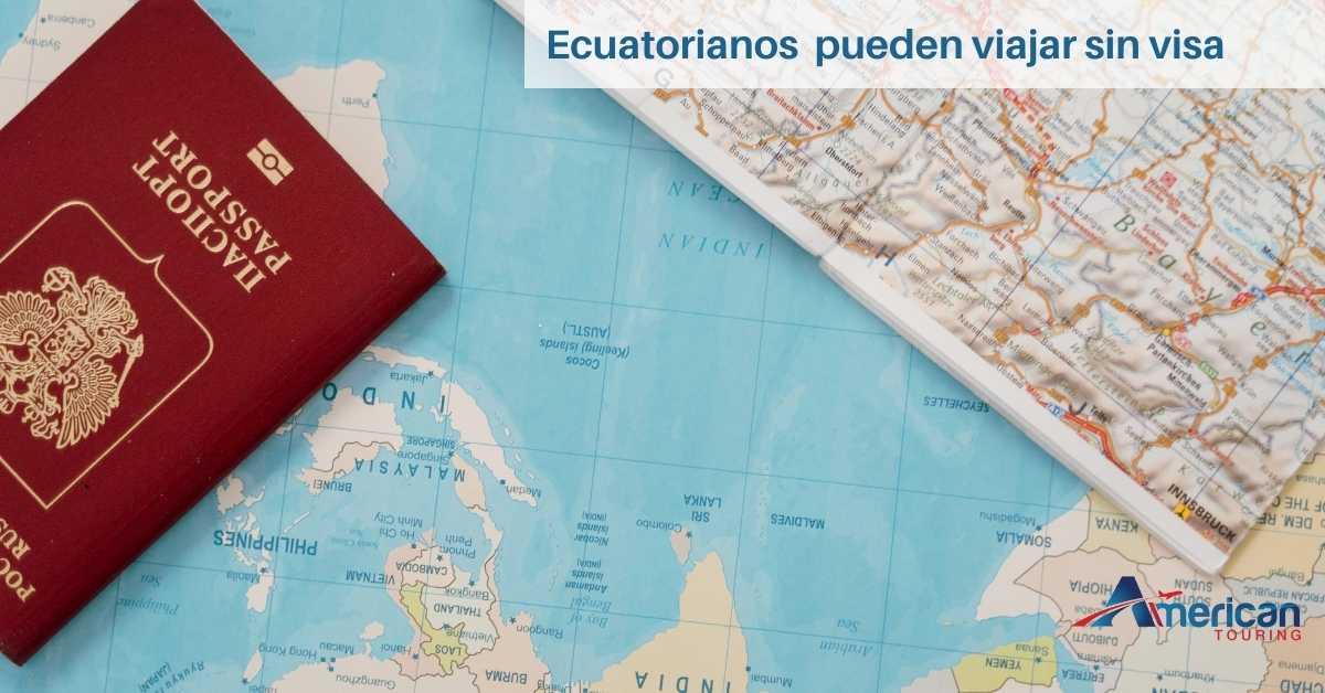 Ecuatorianos pueden viajar sin visa