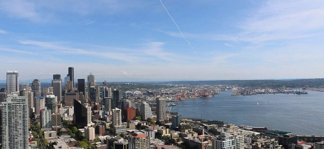 Seattle View of the City from the Space Needle