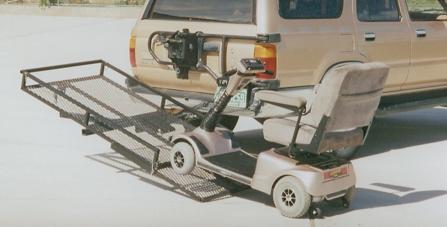 tilt a rack transporter wheelchair and