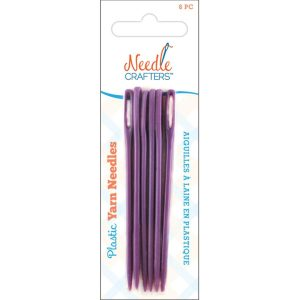 Needlecrafters Plastic Yarn Finishing Needles 6-Pkg