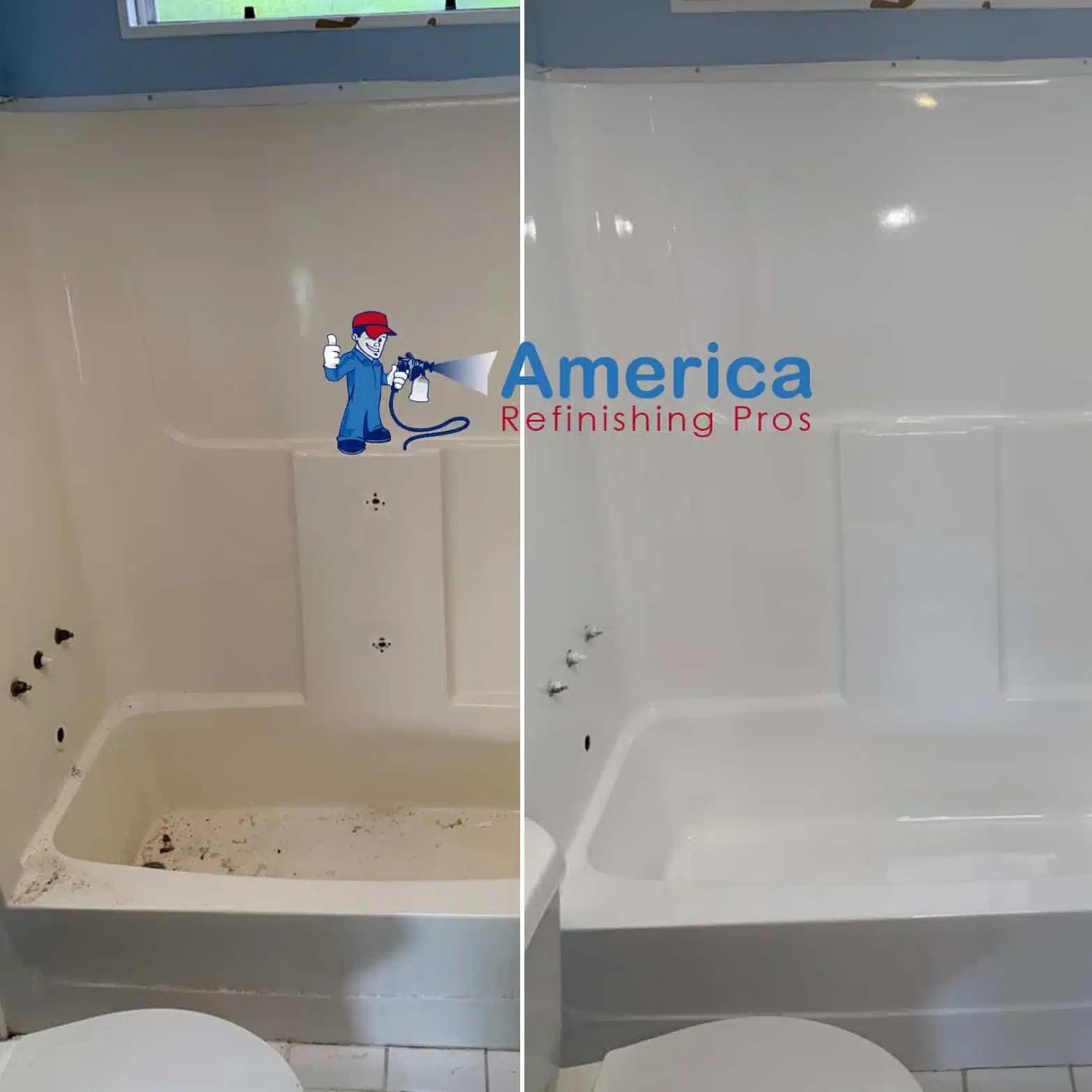 can plastic acrylic or fiberglass bathtubs or shower stalls be reglazed america refinishing pros