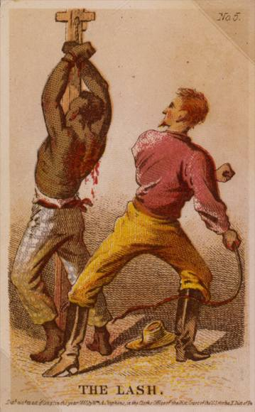 Slave being whipped
