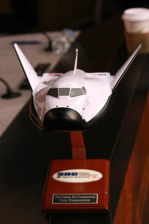 Replica model of Sierra Nevada's 'Dream Chaser' spacecraft ...