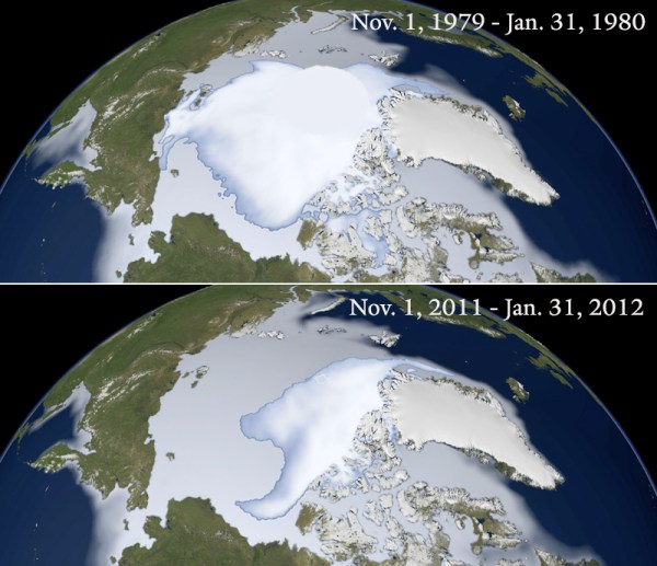 The thickest Arctic sea ice which once covered most of