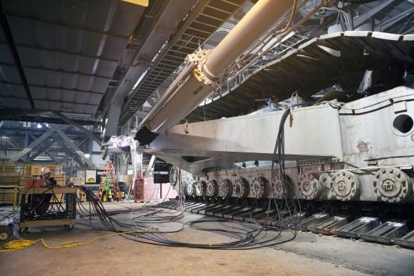 PHOTOS NASAs Giant Crawler Goes for a Test Drive