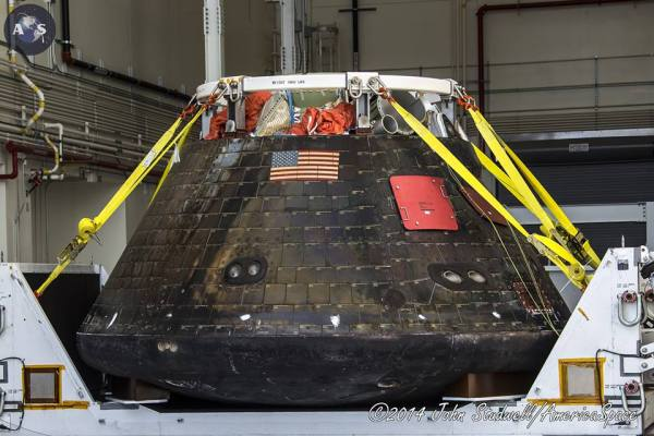 NASA's Orion EFT-1 Spacecraft Returns Home to Kennedy ...