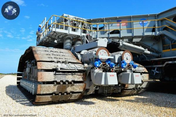 NASAs Upgraded Crawler Transporter2 Takes Test Drive
