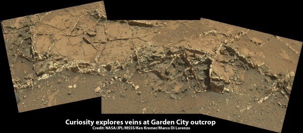 Curiosity Back in Action Discovers Beautiful Veins