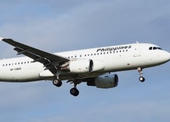 Philippine Airlines Plane, Engine got flamed