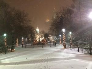 Schneetreiben vor der City Hall: Test für neuen Bürgermeister de Blasio
