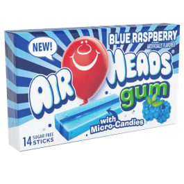 Airheads Blue Raspberry Bubble Gum