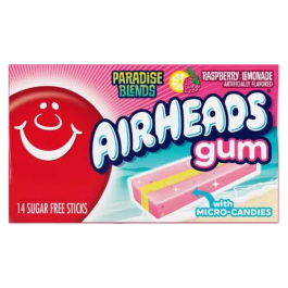 Airheads Raspberry Lemonade Bubble Gum