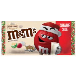 M&M's Christmas White Chocolate Sugar Cookie Share Size