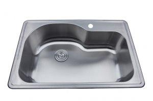 as142 33 x 22 x 9 18g single bowl topmount economy stainless steel kitchen sink