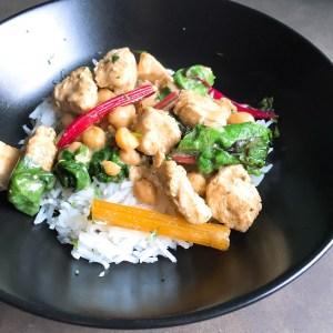 Snijbiet curry met kleur