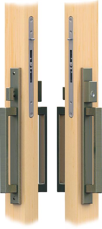 swinging patio door handles lock set