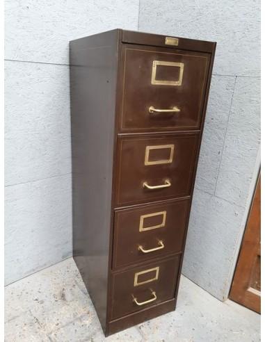 ancien casier a tiroirs roneo meuble industriel vers 1940
