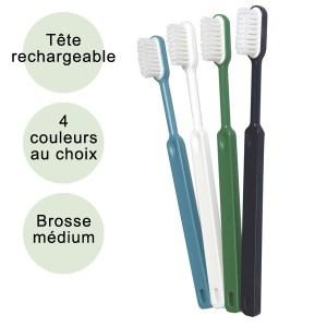 Brosse à dent ecologique bioplastique rechargeable