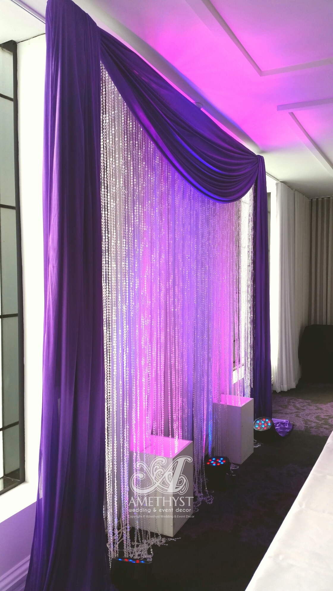 Purple Crystal Backdrop With Lights More Infogtgt