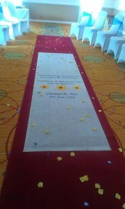 Nat & Chumps at Meon Valley Hotel - Aisle runner