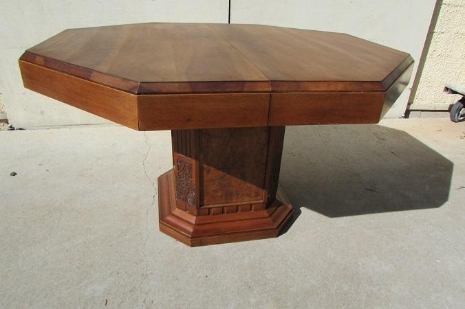 table octogonale art deco ouvrante pour
