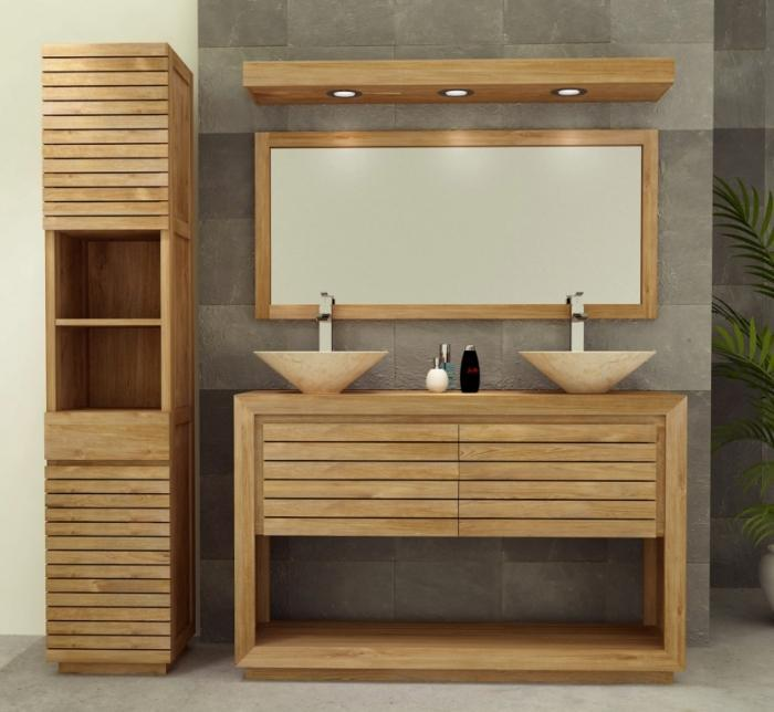 meuble de salle de bain emine l140 en teck