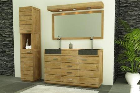 Beste Dekoration Ideengalerie » meuble salle de bain double vasque ...