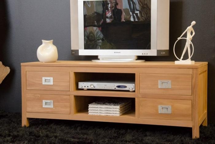 meuble tv en teck tina 130 cm
