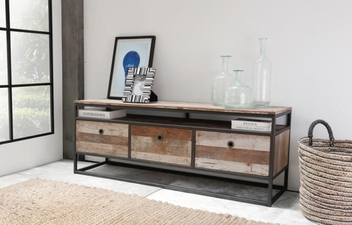 meuble tv tuareg 150 cm 3 tiroirs
