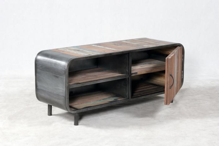achat meuble tv 120 cm au style retro