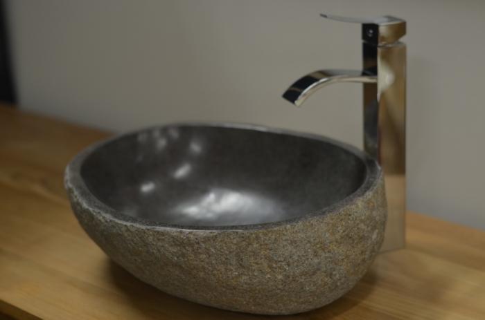 Vasque Originale Pour Salle De Bain Galet De Riviere Creuse