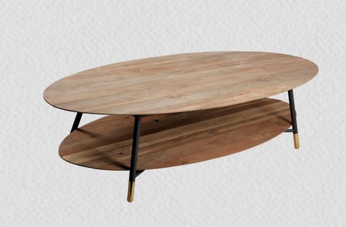 Achat Table Basse Ovale En Teck Une Table Basse En Bois