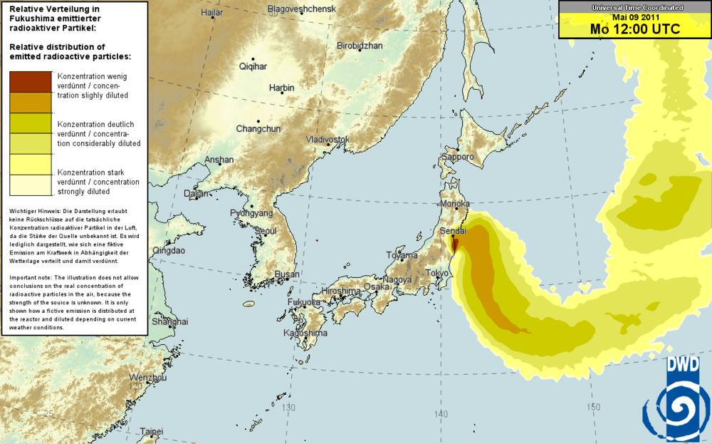 Japan Fukushima Nuclear Fallout Map