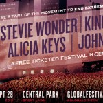 54,000 FREE TICKETS TO 2013 GLOBAL CITIZEN FESTIVAL HEADLINED BY STEVIE WONDER, KINGS OF LEON, ALICIA KEYS AND JOHN MAYER IN CENTRAL PARK SEPTEMBER 28th