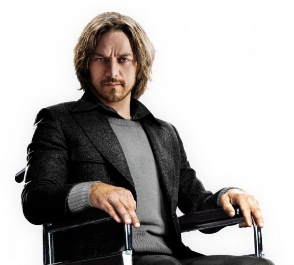 James McAvoy as young Professor Xavier in X Men: Days of Future Past