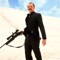 SIMON PEGG, DIRECTOR KRIV STENDERS and KILL ME THREE TIMES