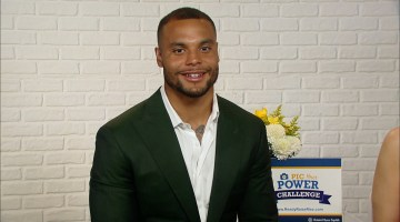 DALLAS COWBOYS QUARTERBACK DAK PRESCOTT:  READY RAISE RISE AGAINST CANCER