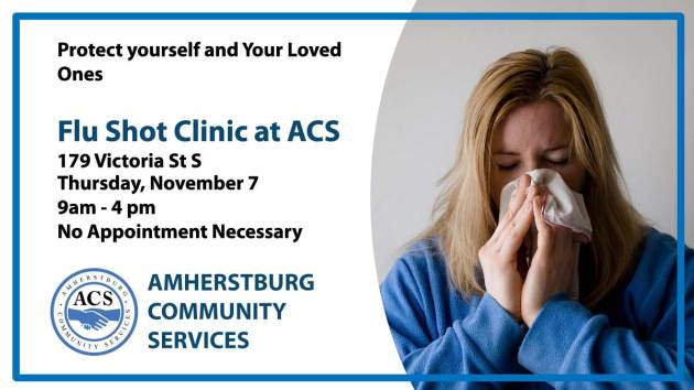 Amherstburg Flu shot Clinic Ad