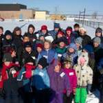 The staff and students of AIPS during the 2004 polar bear olympics.