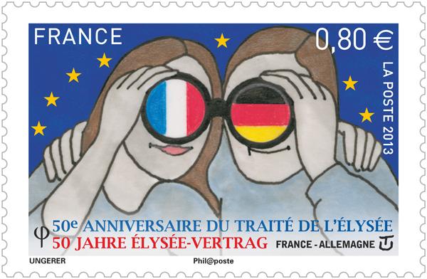 tf  ec france allemagne grande - La Poste commémore le Traité de l'Élysée