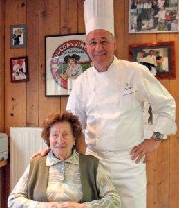 «Madame Marie» et son fils Marc Haeberlin - Photo JF Frey