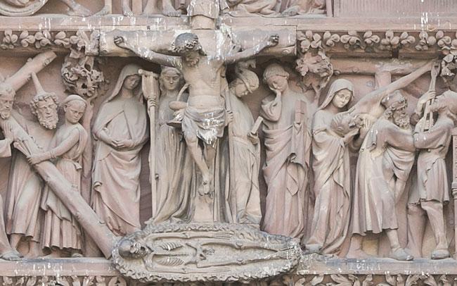 squelette adam - Les portails de la cathédrale : le squelette d'Adam