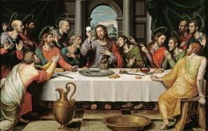 La Cène, de Juan de Juanes  -  Musée du Prado. Photo Escarlati
