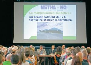 En juillet, plus de 600 personnes ont participé à une réunion publique à l'Espace Terminus pour situer les enjeux du projet Métha-Ko. - DR