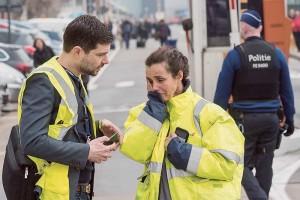 Dans les rues de Bruxelles après les attentats du 22 mars. (Photo: Geert Vanden Wijngaert/AP.)