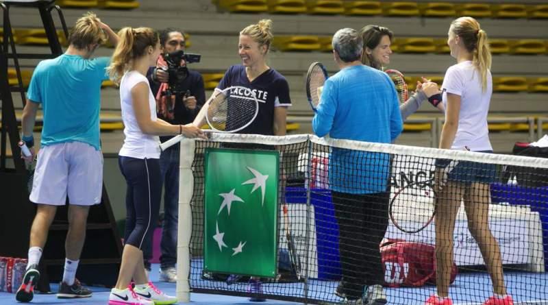 EquipeFranceFedCupEntrainement 012 2 - FED CUP : De toutes les couleurs
