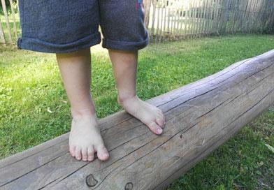 Sentier pieds nus à Wesserling
